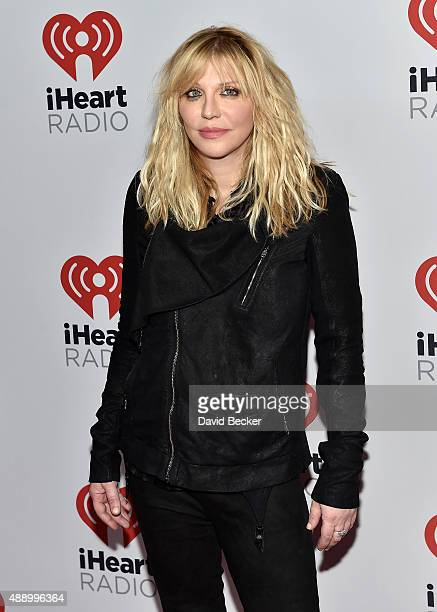 Courtney Love attends the 2015 iHeartRadio Music Festival at MGM Grand Garden Arena on September 18 2015 in Las Vegas Nevada