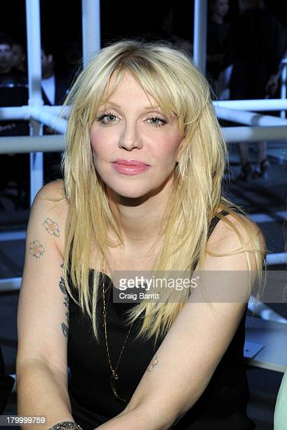 Courtney Love attends the Alexander Wang fashion show during MercedesBenz Fashion Week Spring 2014 at Pier 94 on September 7 2013 in New York City