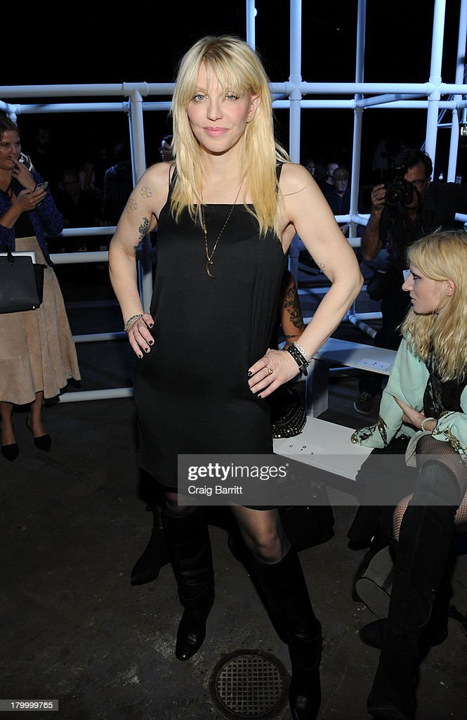 Courtney Love attends the Alexander Wang fashion show during Mercedes-Benz Fashion Week Spring 2014 at Pier 94 on September 7, 2013 in New York City.