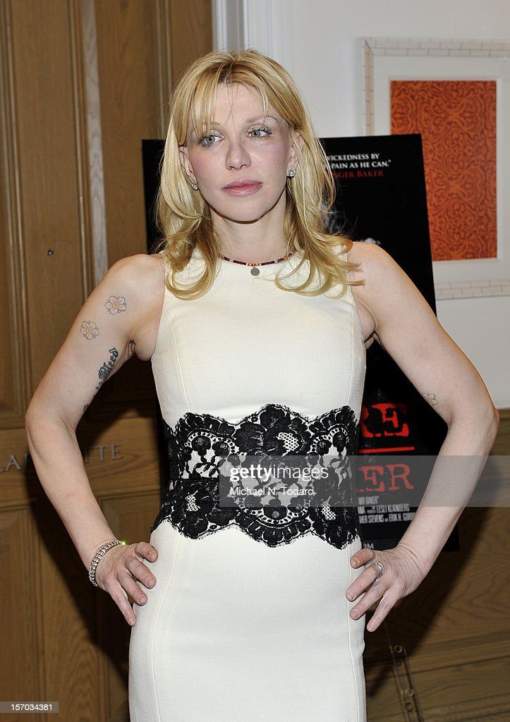 Courtney Love attends the 'Beware of Mr. Baker' screening at the Crosby Street Hotel on November 27, 2012 in New York City.