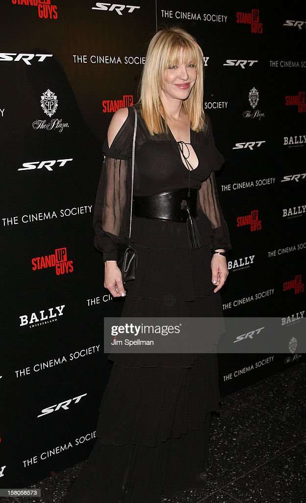 Courtney Love attends The Cinema Society With Chrysler & Bally premiere of 'Stand Up Guys' at Museum of Modern Art on December 9, 2012 in New York City.