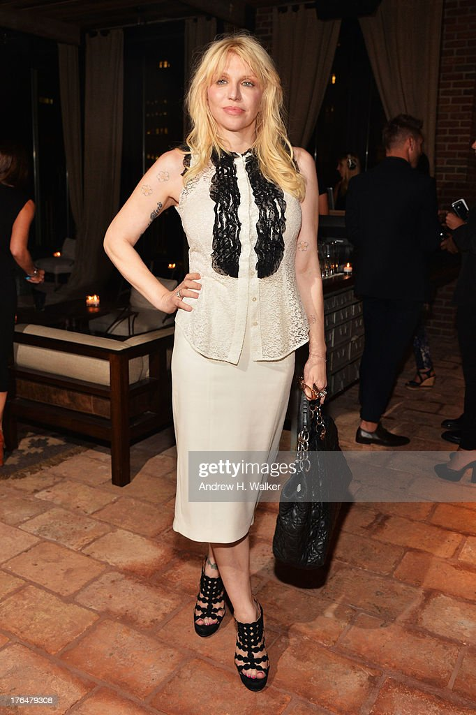 <a gi-track='captionPersonalityLinkClicked' href=/galleries/search?phrase=Courtney+Love&family=editorial&specificpeople=156418 ng-click='$event.stopPropagation()'>Courtney Love</a> attends the Downtown Calvin Klein with The Cinema Society screening of IFC Films' 'Ain't Them Bodies Saints' after party at Refinery Rooftop on August 13, 2013 in New York City.