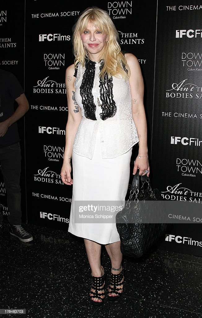 Courtney Love attends the Downtown Calvin Klein with The Cinema Society screening of IFC Films' 'Ain't Them Bodies Saints' at The Museum of Modern...