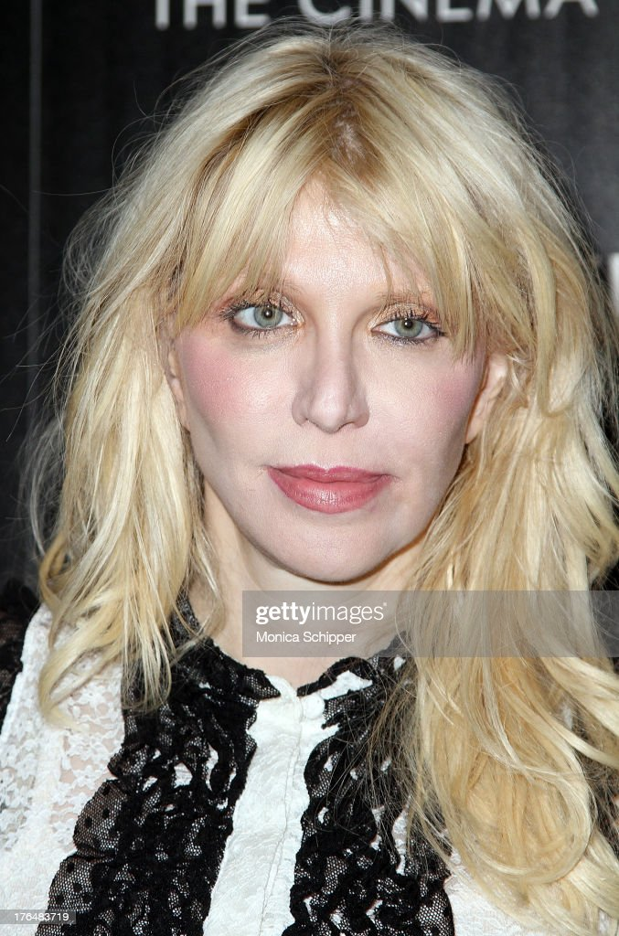 Courtney Love attends the Downtown Calvin Klein with The Cinema Society screening of IFC Films' 'Ain't Them Bodies Saints' at The Museum of Modern Art on August 13, 2013 in New York City.