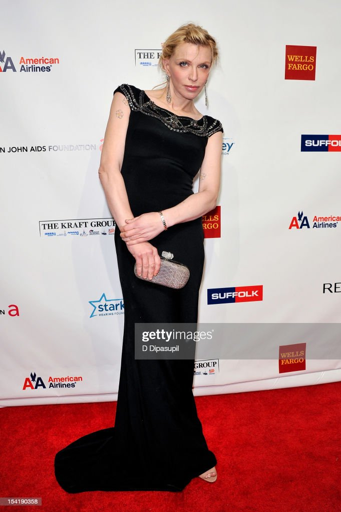 <a gi-track='captionPersonalityLinkClicked' href=/galleries/search?phrase=Courtney+Love&family=editorial&specificpeople=156418 ng-click='$event.stopPropagation()'>Courtney Love</a> attends the Elton John AIDS Foundation's 11th Annual 'An Enduring Vision' Benefit at Cipriani Wall Street on October 15, 2012 in New York City.