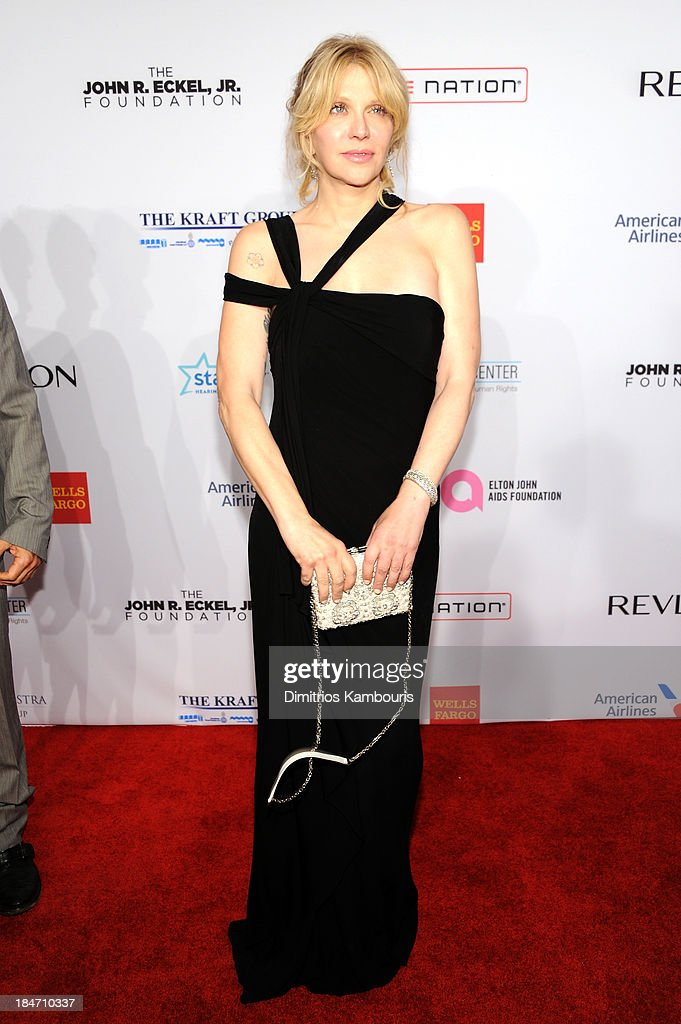 <a gi-track='captionPersonalityLinkClicked' href=/galleries/search?phrase=Courtney+Love&family=editorial&specificpeople=156418 ng-click='$event.stopPropagation()'>Courtney Love</a> attends the Elton John AIDS Foundation's 12th Annual An Enduring Vision Benefit at Cipriani Wall Street on October 15, 2013 in New York City.