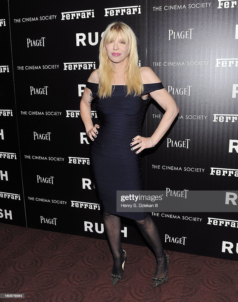 <a gi-track='captionPersonalityLinkClicked' href=/galleries/search?phrase=Courtney+Love&family=editorial&specificpeople=156418 ng-click='$event.stopPropagation()'>Courtney Love</a> attends the Ferrari & The Cinema Society screening of 'Rush' at Chelsea Clearview Cinema on September 18, 2013 in New York City.
