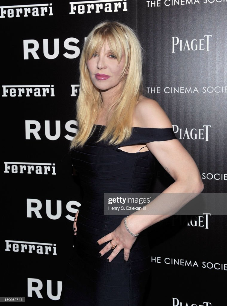 Courtney Love attends the Ferrari & The Cinema Society screening of 'Rush' at Chelsea Clearview Cinema on September 18, 2013 in New York City.