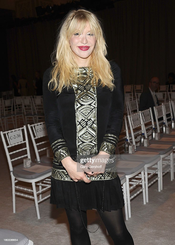 Courtney Love attends the Marchesa show during Spring 2014 Mercedes-Benz Fashion Week at New York Public Library on September 11, 2013 in New York City.
