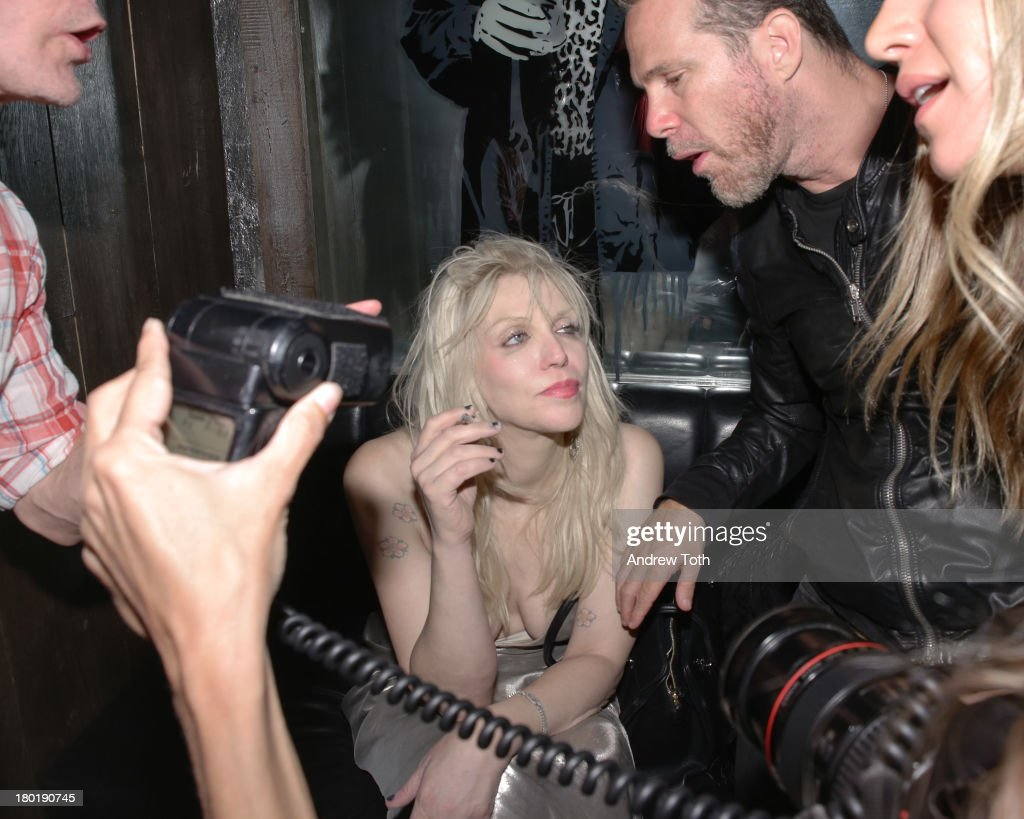 Courtney Love attends the 'Popplicks: Plus One' Book Launch Event at The Gallery at The Dream Downtown Hotel on September 9, 2013 in New York, United States.