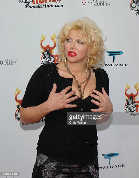 Courtney Love during Comedy Central Roast of Pamela Anderson Arrivals at Sony Studios in Culver City California United States
