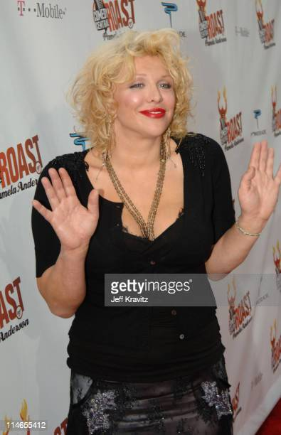 Courtney Love during Comedy Central Roast of Pamela Anderson Red Carpet at Sony Studio in Culver City California United States