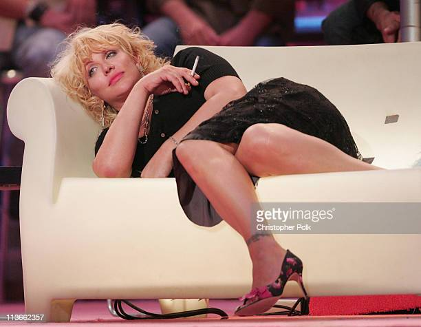 Courtney Love during Comedy Central Roast of Pamela Anderson Show at Sony Studios in Culver City California United States