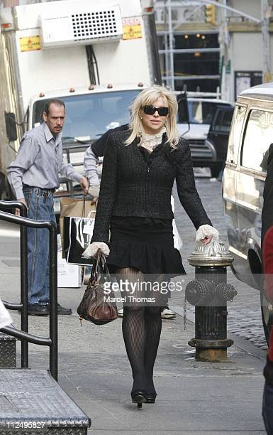 Courtney Love ** Exclusive Coverage ** during Courtney Love Shopping at Marc Jacobs Store in SOHO October 31 2006 at Marc Jacobs Store in New York...