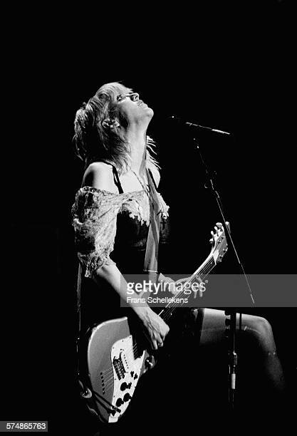 Courtney Love guitar and vocals performs with HOLE on April 24th 1995 at the Paradiso in Amsterdam the Netherlands