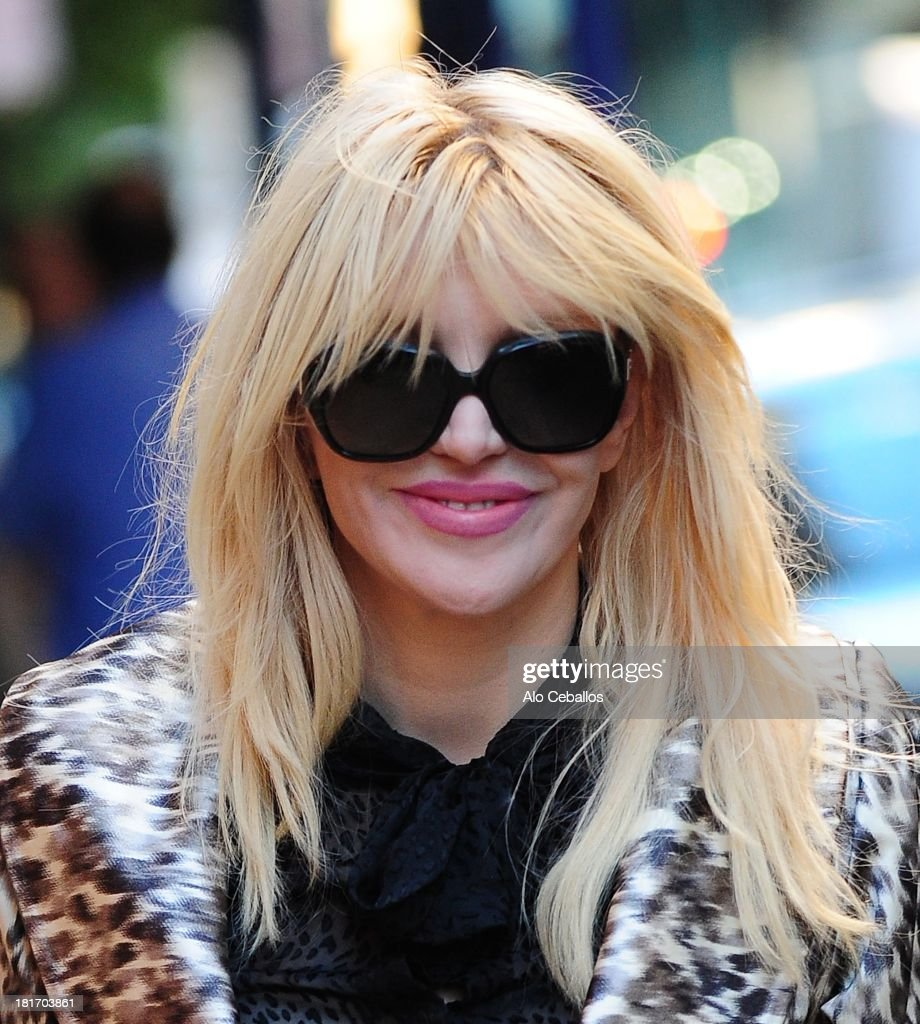 Courtney Love is seen in Soho on September 23, 2013 in New York City.