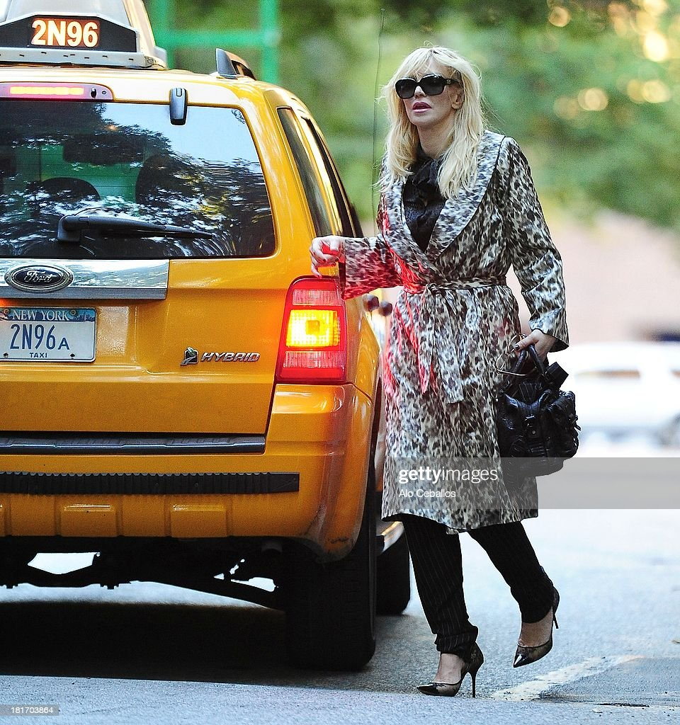 Courtney Love is seen in the West Village on September 23, 2013 in New York City.