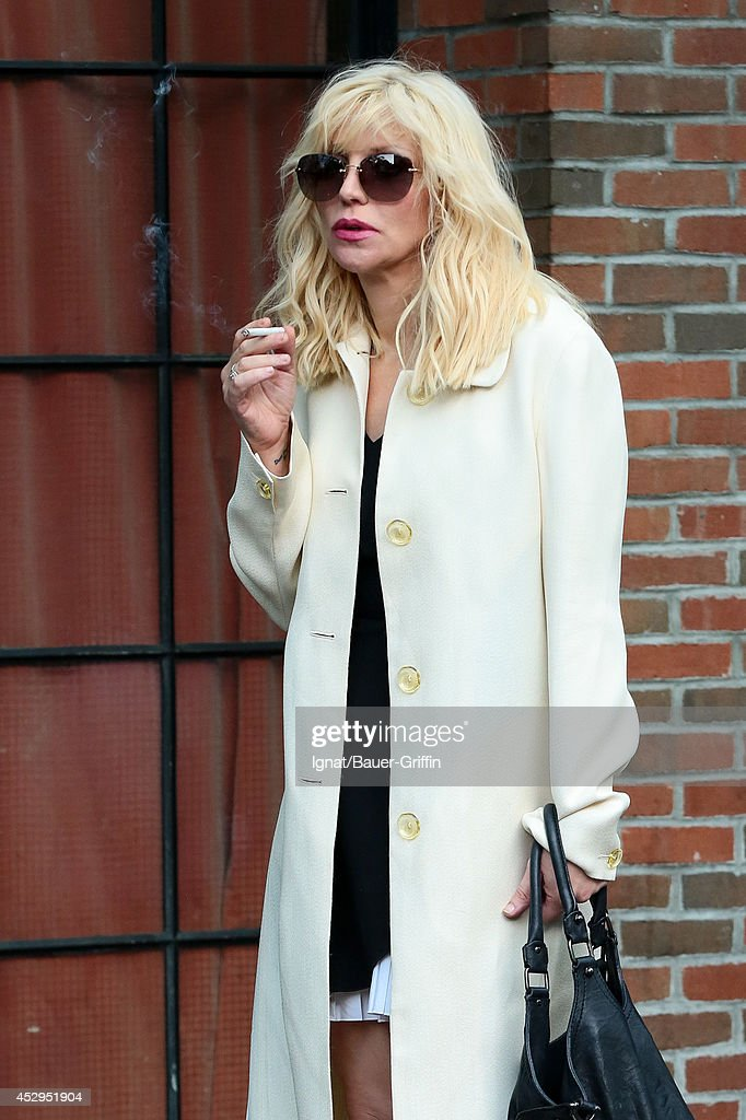 Courtney Love is seen on July 30, 2014 in New York City.