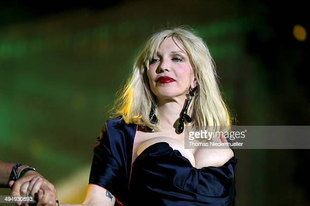 Courtney Love is seen on stage during the Lifeball 2014 at City Hall on May 31 2014 in Vienna Austria