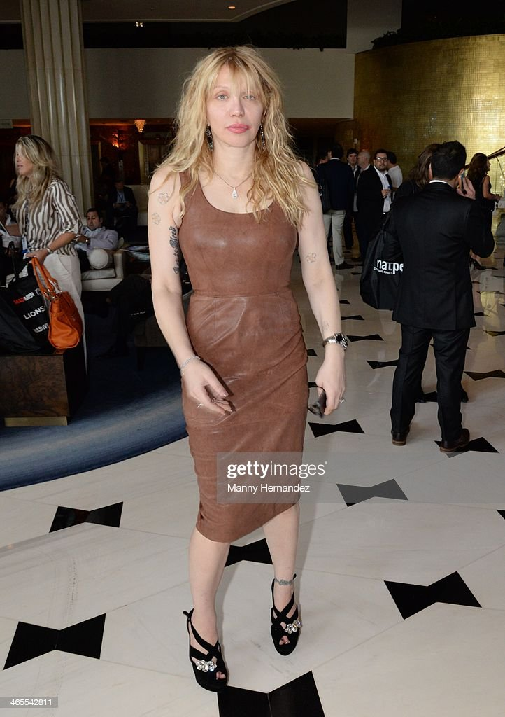<a gi-track='captionPersonalityLinkClicked' href=/galleries/search?phrase=Courtney+Love&family=editorial&specificpeople=156418 ng-click='$event.stopPropagation()'>Courtney Love</a> is sighted at NATPE 2014 in Miami Beach at Fontainebleau Miami Beach on January 27, 2014 in Miami Beach, Florida.