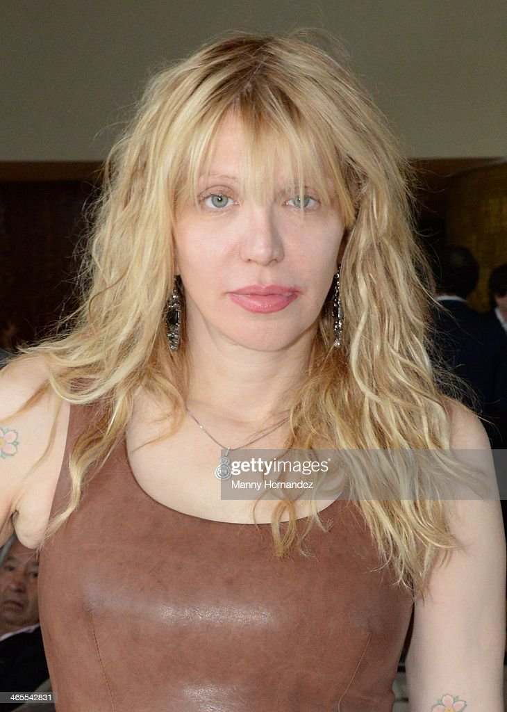 Courtney Love is sighted at NATPE 2014 in Miami Beach at Fontainebleau Miami Beach on January 27, 2014 in Miami Beach, Florida.