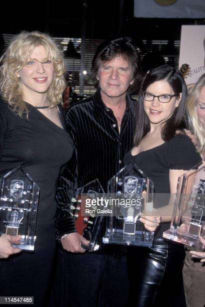 Courtney Love John Fogerty Lisa Loeb during 1999 Orville H Gibson Guitar Awards at Hard Rock Cafe in Los Angeles California United States
