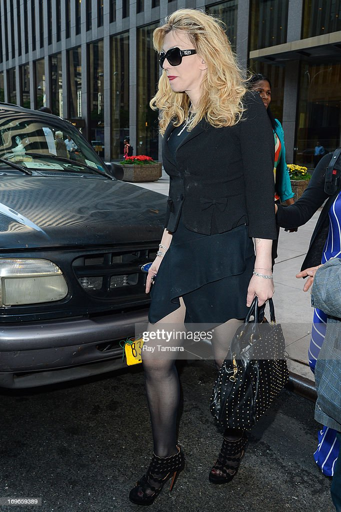 Courtney Love leaves the Sirius XM Studios on May 30, 2013 in New York City.