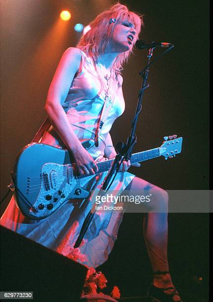 Courtney Love of Hole performing on stage at Brixton Academy London 04 May 1995