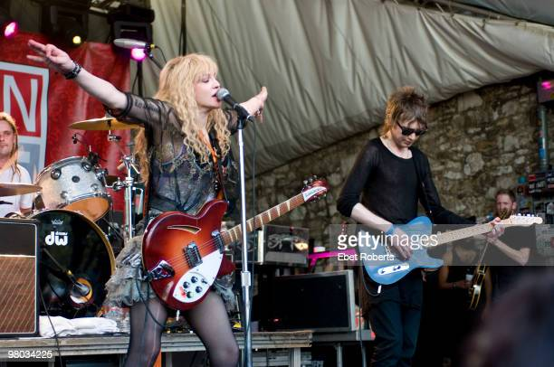 Courtney Love of Hole performs at Stubb's Spin magazine during day three of SXSW Music Festival on March 19 2010 in Austin Texas