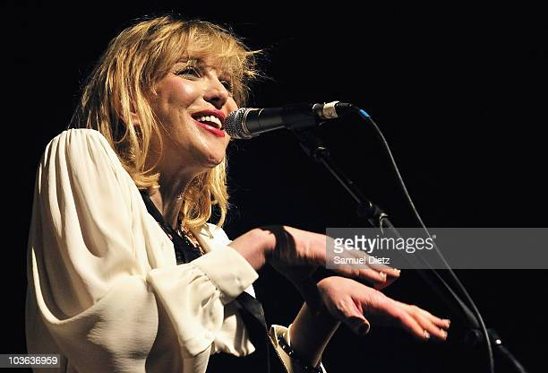 Courtney Love of Hole performs live at Le Bataclan on August 25 2010 in Paris France