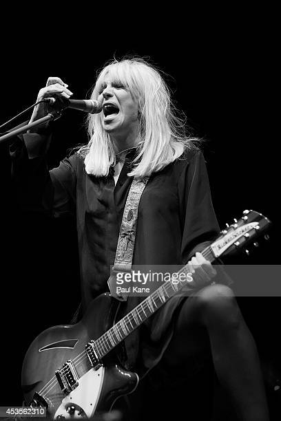 Courtney Love performs at her opening night of You Know My Name tour at Metro City Nightclub on August 13 2014 in Perth Australia