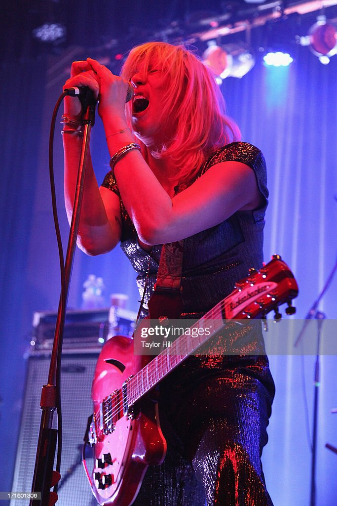 Courtney Love performs at Warsaw on June 26, 2013 in New York City.