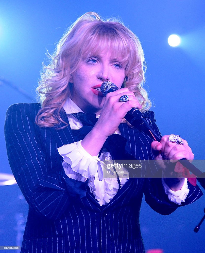 <a gi-track='captionPersonalityLinkClicked' href=/galleries/search?phrase=Courtney+Love&family=editorial&specificpeople=156418 ng-click='$event.stopPropagation()'>Courtney Love</a> performs live in concert during the 2013 Sundance Film Festival at Star Bar on January 21, 2013 in Park City, Utah.