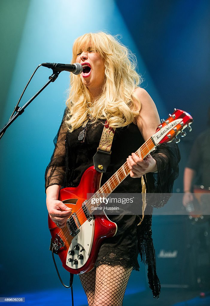 Courtney Love performs live on stage at Shepherds Bush Empire on May 11, 2014 in London, United Kingdom.