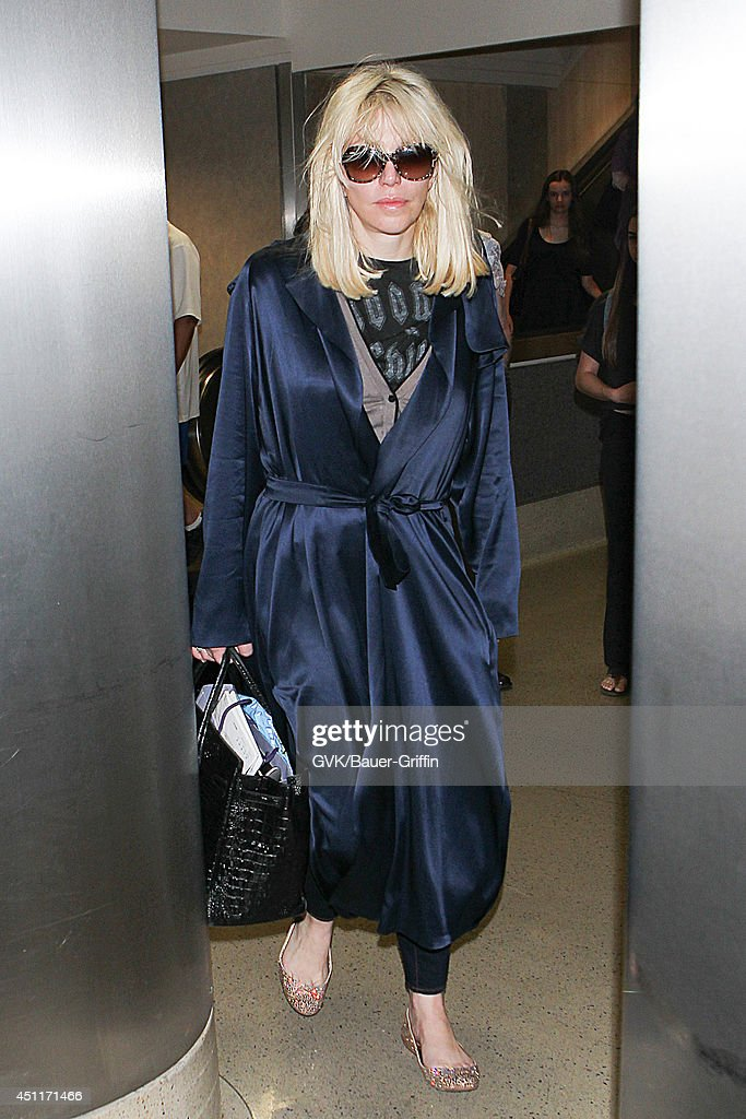 Courtney Love seen at LAX on June 24, 2014 in Los Angeles, California.