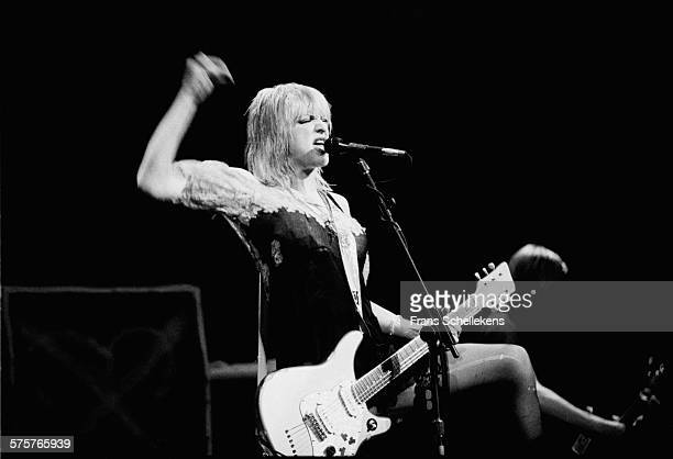 Courtney Love vocals and guitar performs with Hole on April 24th 1995 at the Paradiso in Amsterdam Netherlands