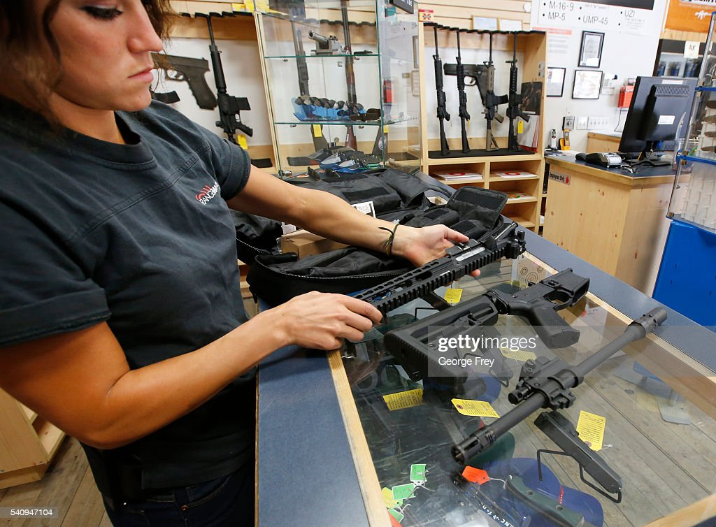 Courtney Manwaring unpacks an AR15 semiautomatic gun kit at Action Target on June 17 2016 in Springville Utah Semiautomatics are in the news again...