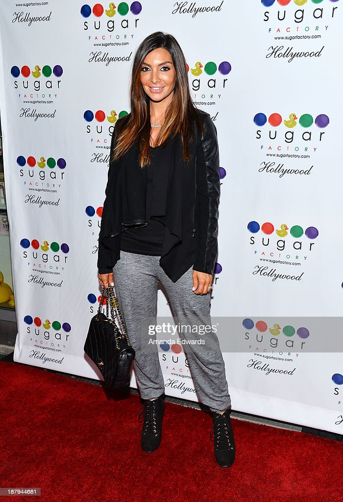 Courtney Mazza arrives at the grand opening of Sugar Factory Hollywood at Sugar Factory on November 13, 2013 in Hollywood, California.