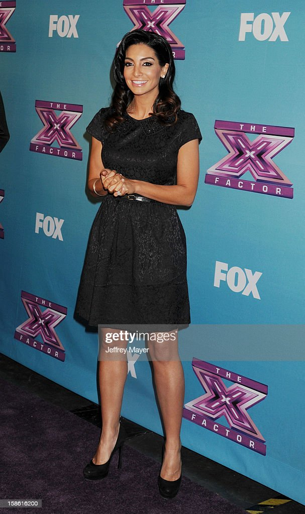 Courtney Mazza Lopez attends the FOX's 'The X Factor' Season Finale - Night 2 at CBS Television City on December 20, 2012 in Los Angeles, California.