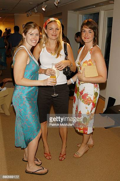 Courtney O'Hill Claire Pastere and Samantha Doherty attend Sergio Rossi Grand Opening at Sergio Rossi East Hampton NYC USA on August 13 2005