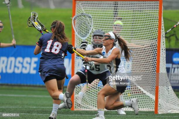 Courtney Patterson of Gettysburg College drives to the goal during the Division III Women's Lacrosse Championship held at Kerr Stadium on May 28 2017...