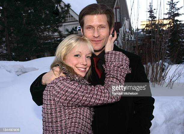 Courtney Peldon and Crispin Glover during 2006 Sundance Film Festival Courtney Peldon and Crispin Glover Outdoor Portraits in Park City Utah United...