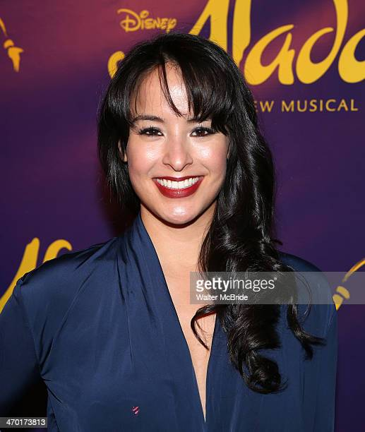 Courtney Reed attend the 'Aladdin' Broadway Cast And Creative Team Press Preview at Mandarin Oriental Hotel on February 18 2014 in New York City