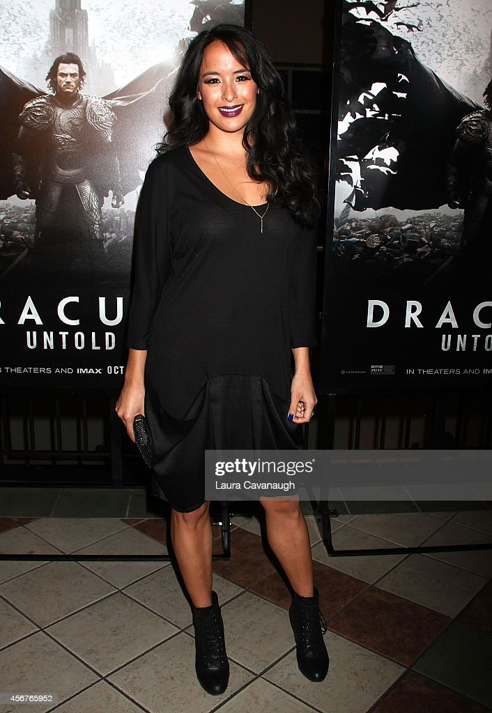 Courtney Reed attends 'Dracula Untold' New York Premiere at AMC Loews 34th Street 14 theater on October 6, 2014 in New York City.