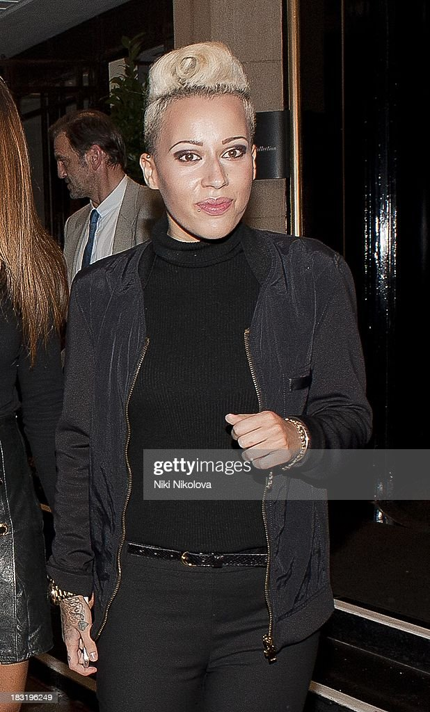 <a gi-track='captionPersonalityLinkClicked' href=/galleries/search?phrase=Courtney+Rumbold&family=editorial&specificpeople=8828467 ng-click='$event.stopPropagation()'>Courtney Rumbold</a> sighted leaving the Dorchester Hotel, Park Lane on October 5, 2013 in London, England.