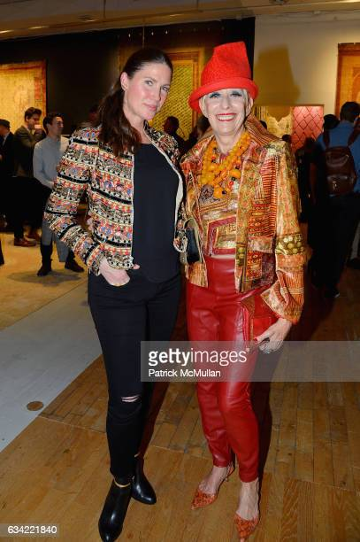 Courtney Sharma and Sandra Long attend the ABC Carpet Home and Obeetee Celebrate the Launch of the Tarun Tahiliani Rug Collection at ABC Carpet on...