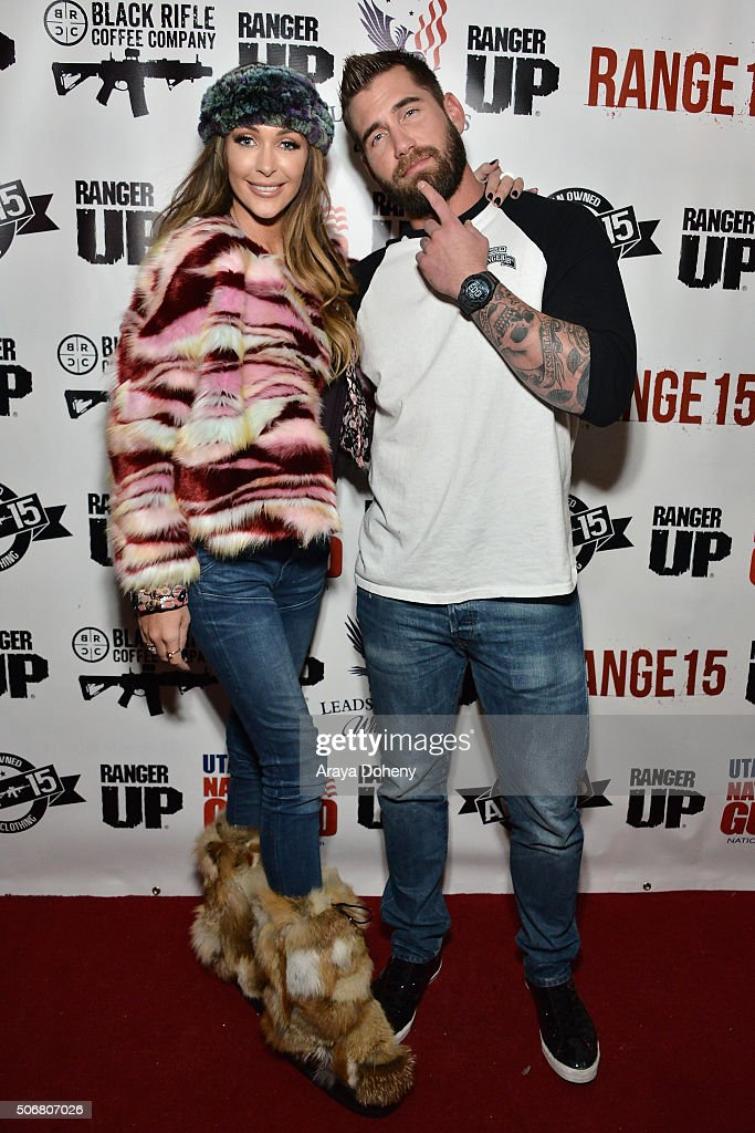 Courtney Sixx and Mat Best attend the Range 15 x Maxim Magazine Party at Indie Lounge on January 25 2016 in Park City Utah