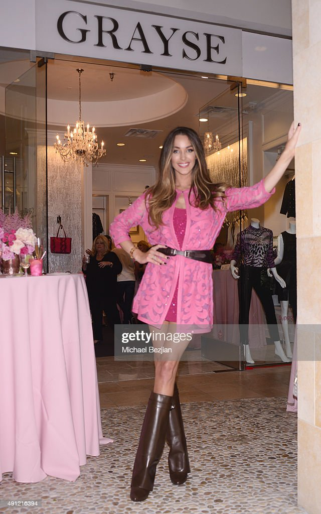 Courtney Sixx attends at the HOW2GIRL Courtney Sixx And GRAYSE CEO Kelly Gray Host Event For Bright Pink Cancer Charity on October 3 2015 in Los...