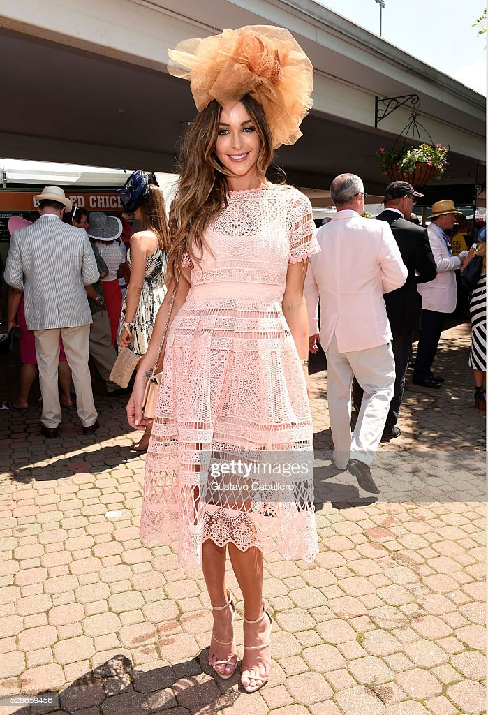 Courtney Sixx attends the 2016 Kentucky Oaks at Churchill Downs on May 6, 2016 in Louisville, Kentucky.