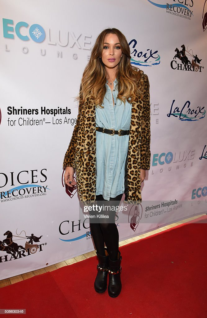 Courtney Sixx attends the EcoLuxe Lounge at Sundance16 on January 24 2016 in Park City Utah